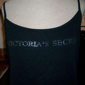 Victoria's Secret Black Bling Tank Top Large